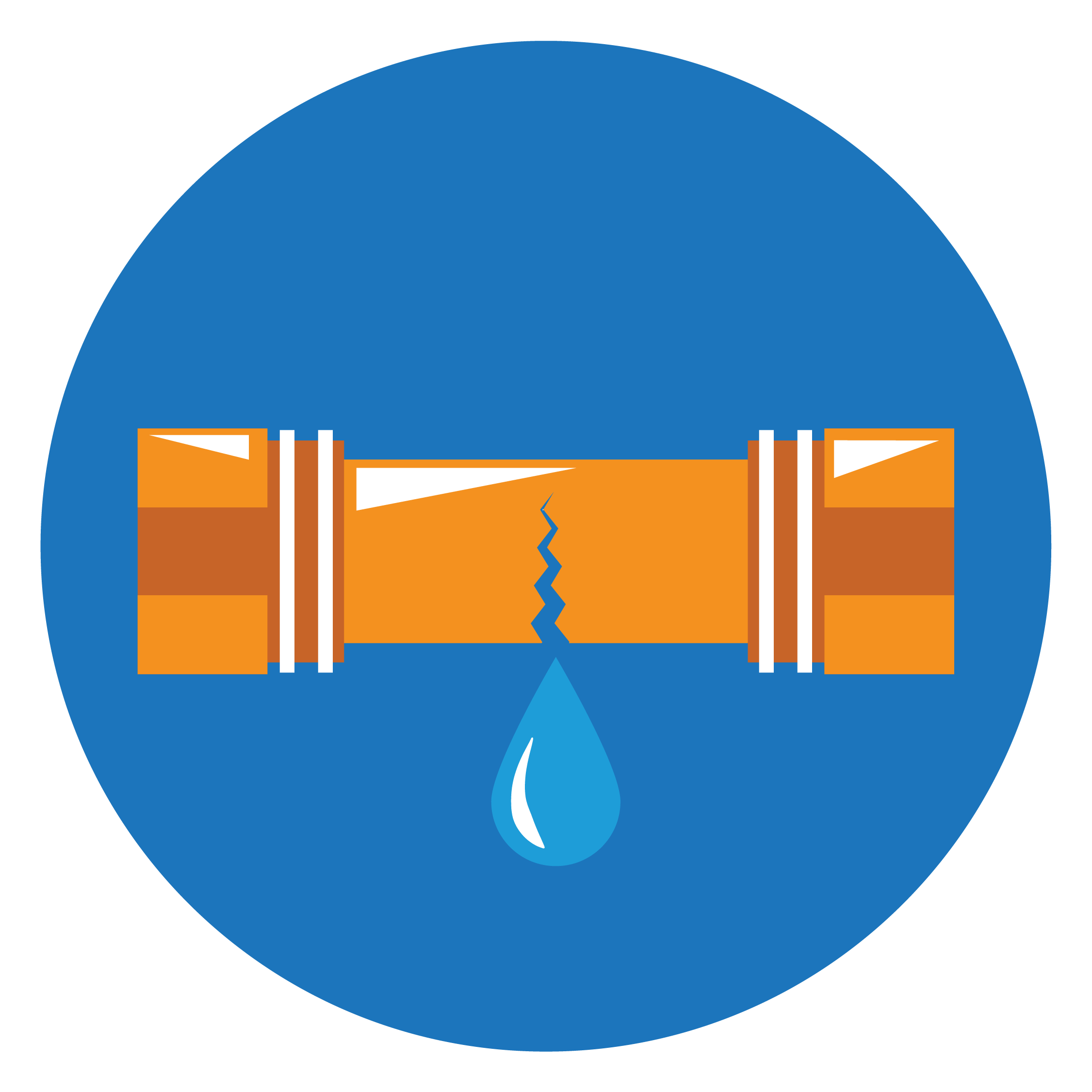 leaking pipe icon